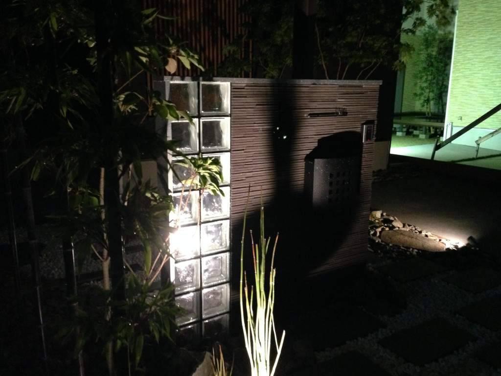 ライトアップ 門柱