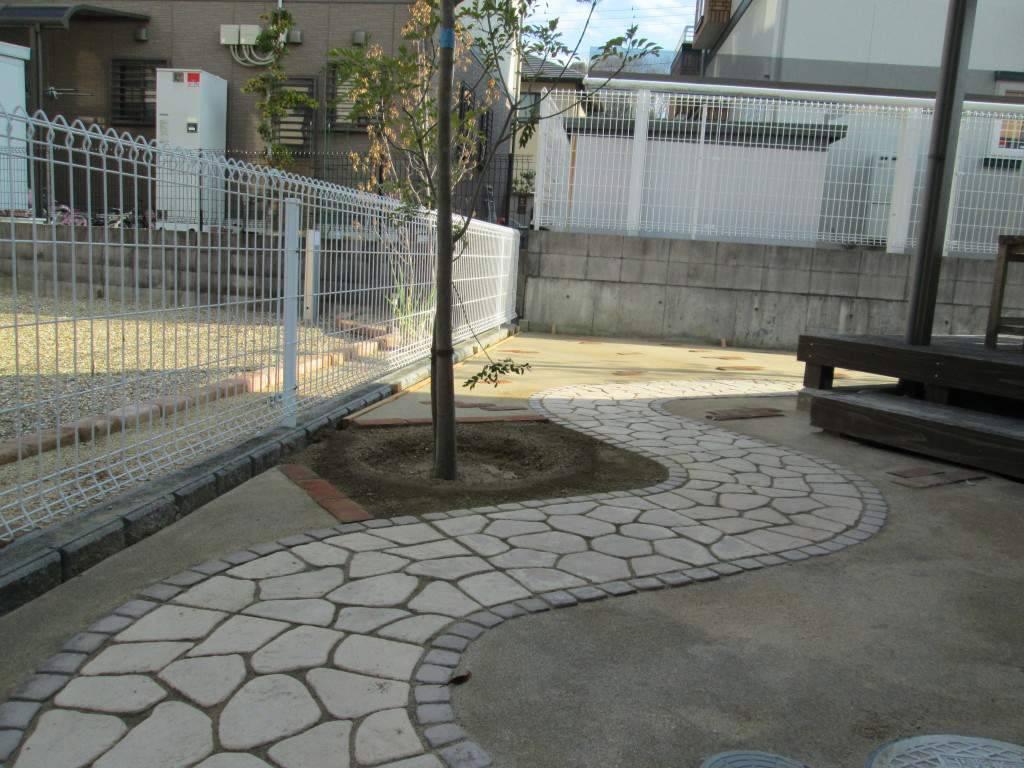 マサ土舗装 アプローチ