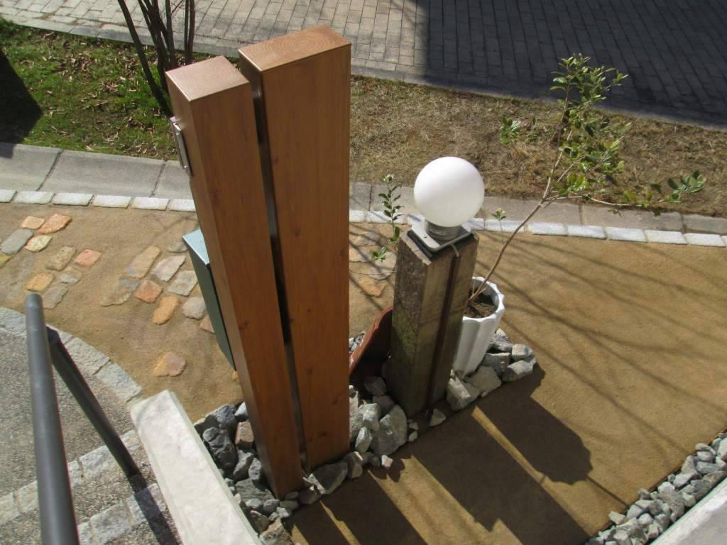 オリジナル 門柱