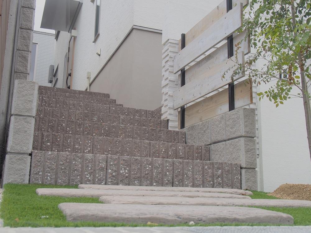 ブロック階段