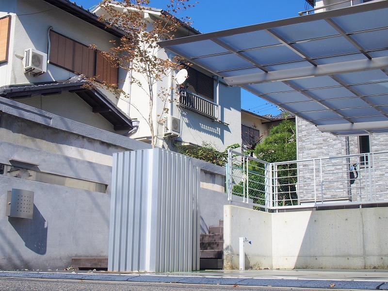 和泉市シンプル外構(裏)